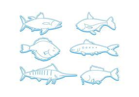 Freie hervorragende Ozean-Fisch-Vektoren vektor
