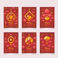 chinesische Neujahrskarten vektor