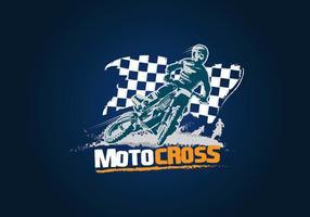 Motocross logotyp illustration vektor