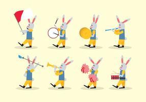 Kaninchen Marschieren Band Vektor