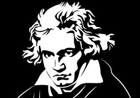 Beethoven Porträttvektor vektor