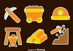 Gold Rush Element Vektoren
