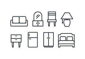 Möbel Icon Pack vektor