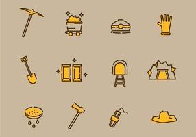 Gold Mine Icon Vermögenswerte vektor