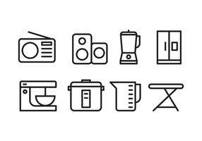Haushaltsgeräte Icons