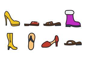 Schuhe Icons Vektor