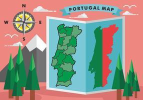Portugal Karte Vektor-Illustration vektor
