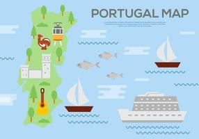 Kostenlose Portugal Karte Vektor