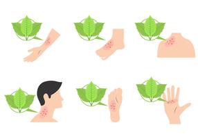 Poison Ivy Illustration Vektor
