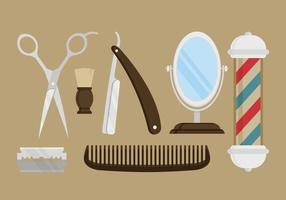Flat Shaver Set Vector Illustration