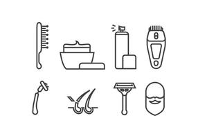 Rasieren Sie Vektorsymbole