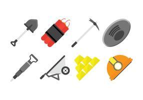 Gold Rush Vektor-Icons gesetzt vektor