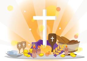 Fasten katholischen Hintergrund vektor