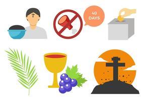Free Lent Icons Vektor