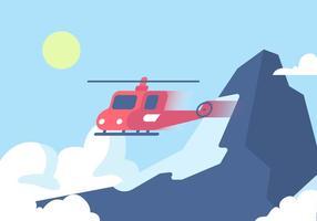 Matterhorn och helikopter vektor