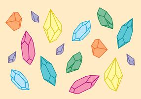 Kristallformen vektor