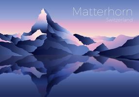 Matterhorn Landschaft Freier Vektor