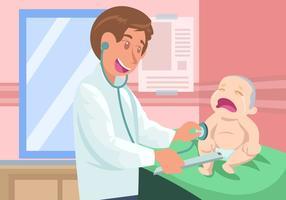 Kinderarzt mit Kind Vektor