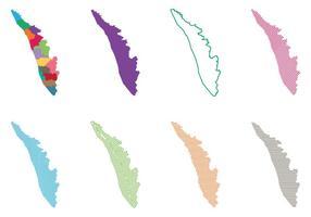 Kerala Indien Karta vektor