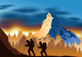 Abenteuer auf dem Matterhorn Vektor