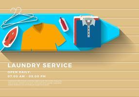 Tvättservice Banner Gratis Vector