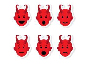 Lucifer Kopf Emoticon Vektoren
