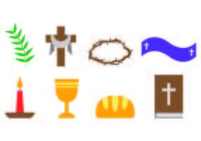 Set av lånade ikoner vektor