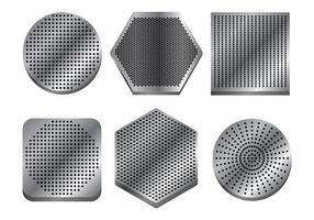 Lautsprecher-Grill Vektor-Icons