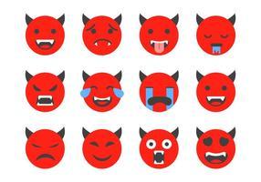 Freier Teufel Emoticon Vektor