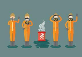 Personer som bär respiratorvektorer