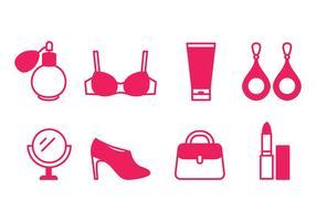 Kvinnor Skönhet och mode ikoner vektor