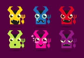 Lucifer Devils Emojis Emoticons Vektor