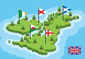Britische Inseln Karte