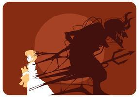 Teufel Mädchen Vektor