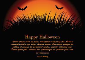 Glad Halloween illustration med utrymme för text vektor