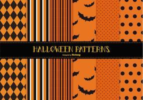 Gespenstische Halloween-Muster-Sammlung vektor