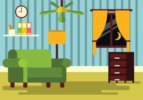 Illustration des Wohnzimmers