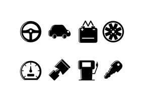 Autobezogenes Set-Symbol vektor