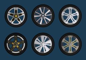 Hubcap För Bil Vector Collection