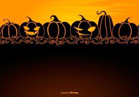 Halloween Hintergrund Vorlage mit Platz für Text vektor