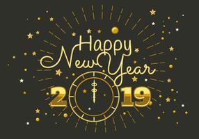 Gott nytt år 2018 Typografi Vector