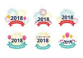 Gott nytt år 2018 Hälsningsfria vektorer
