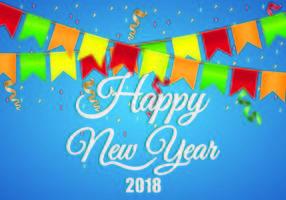 Hintergrund des guten Rutsch ins neue Jahr 2018 vektor