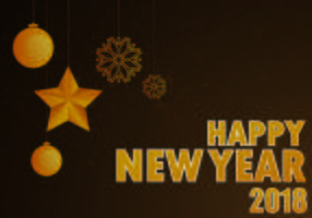 Vector Glückliches neues Jahr 2018