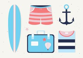 Free Summer Icons Vektor Hintergrund