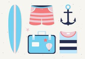 Gratis sommar ikoner vektor bakgrund