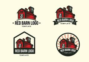 Röd ladugård vintage logotyp