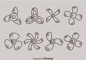 Sketch Variation Fan Sammlung Vektor