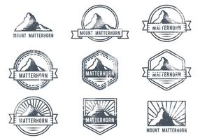Matterhorn outdoor adventure logo vektor