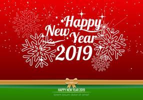 Gott nytt år 2018 Bakgrund vektor